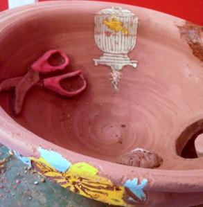 Knitting bowl drying